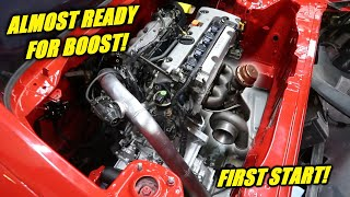 Turbo Kit Installed On The K24 Swapped Mr2!