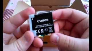 Canon PowerShot A3400 IS unboxing
