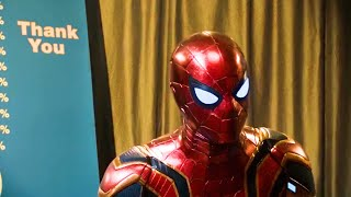 Iron Spider Gets Scared Scene - Spider-Man Far From Home Movie Clip 4K