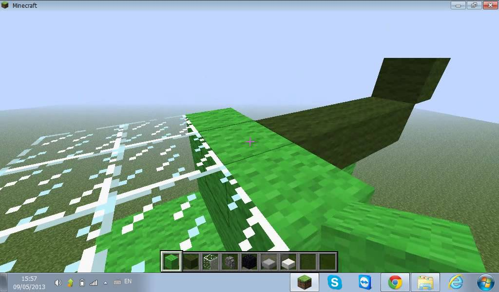 Как сделать 1: Как построить вертолёт в minecraft - YouTube