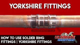 Solder ring fittings | Yorkshire fittings | capillary fittings