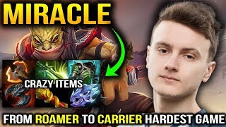 Miracle Bounty Hunter Turn Roaming to Carry in SUPER LATE Game Dota 2