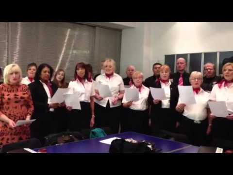 Manchester Airport Choir sing J & A