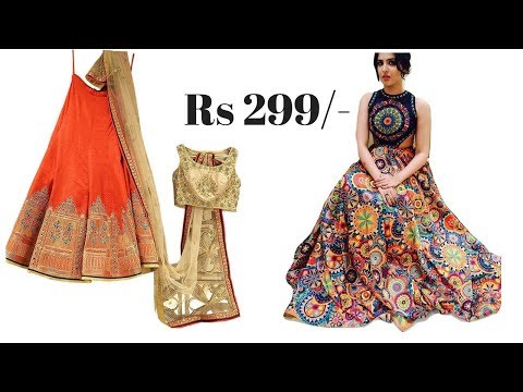 Buy party Lehenga only for ₹299/- Best online price Cheapest Lehenga rates / must watch retail price