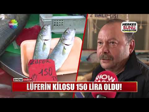 Lüferin kilosu 150 Lira oldu!
