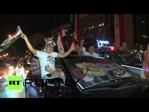 Syria: Damascus celebrates as Assad wins re-election