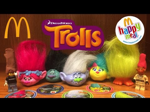 McDonalds TROLLS 2016 Movie Happy Meal Toys Review & Adventure Dreamworks