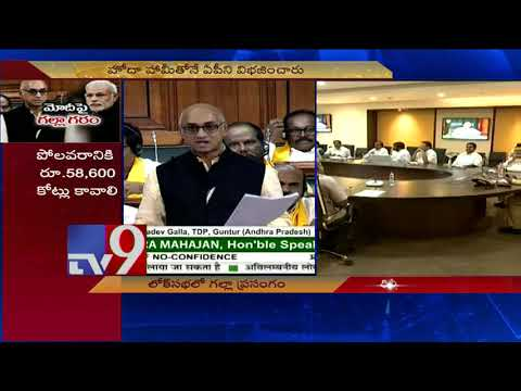 TDP MP Galla Jayadev voices concerns of Andhra people - TV9