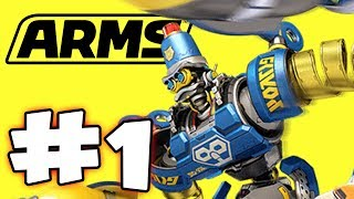 ARMS - Nintendo Switch - Part 1 - The Grand Prix (HD Gameplay Walkthrough)