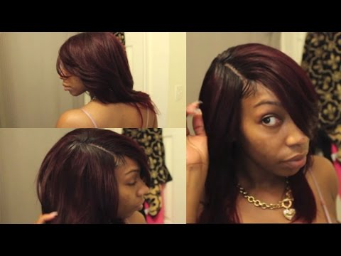 Realistic Invisible Part  Quick Weave + Making Baby Hairs  Kennysweets