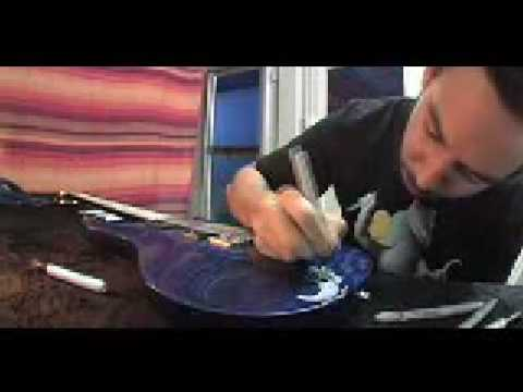 How to paint a guitar - Mike Shinoda style! Music Videos