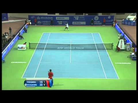 ACO 2014- Day4: Match 1 Highlights- F FOGNINI vs Y BHAMBRI
