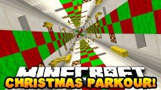 Minecraft CHRISTMAS PARKOUR! (Collect 9 XMAS WOOLS!) w/ PrestonPlayz & CampingRusher