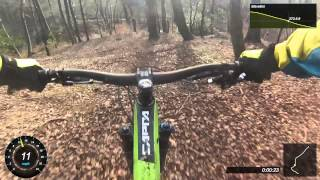 Redisher wood Downhill on Yt Capra with go pro & garmin virb Software
