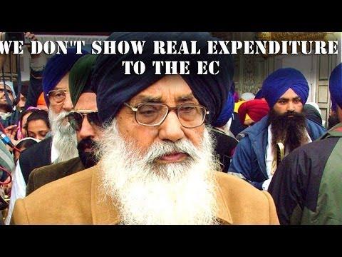 Parkash Singh Badal asks for votes & cash from voters