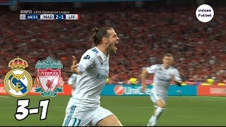 Real Madrid vs Liverpool 3-1 Resumen Completo Final 2018