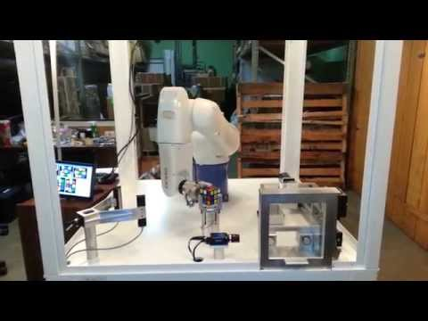 Denso 6 Axis Industrial Robot Solving a Rubik's Cube – Less than 1 Minute