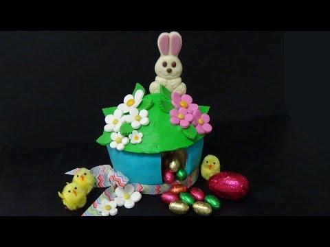 easter suprise giant cupcake - Húsvéti hatalmas meglepetés süti