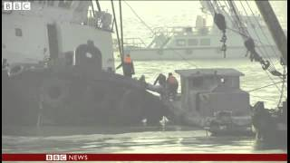 [BBC News   Final body removed from capsized Chinese tugboat] Video