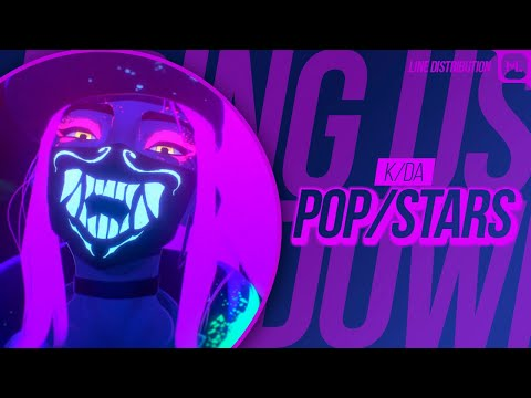 K/DA - POP/STARS (ft Madison Beer, (G)I-DLE, Jaira Burns) • Line Distribution (Color Coded)