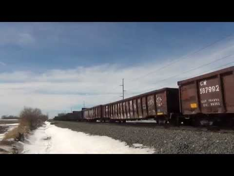 NS 5347 w/ Leslie RS3L East near Wauseon, OH 3/17/14 (HD)