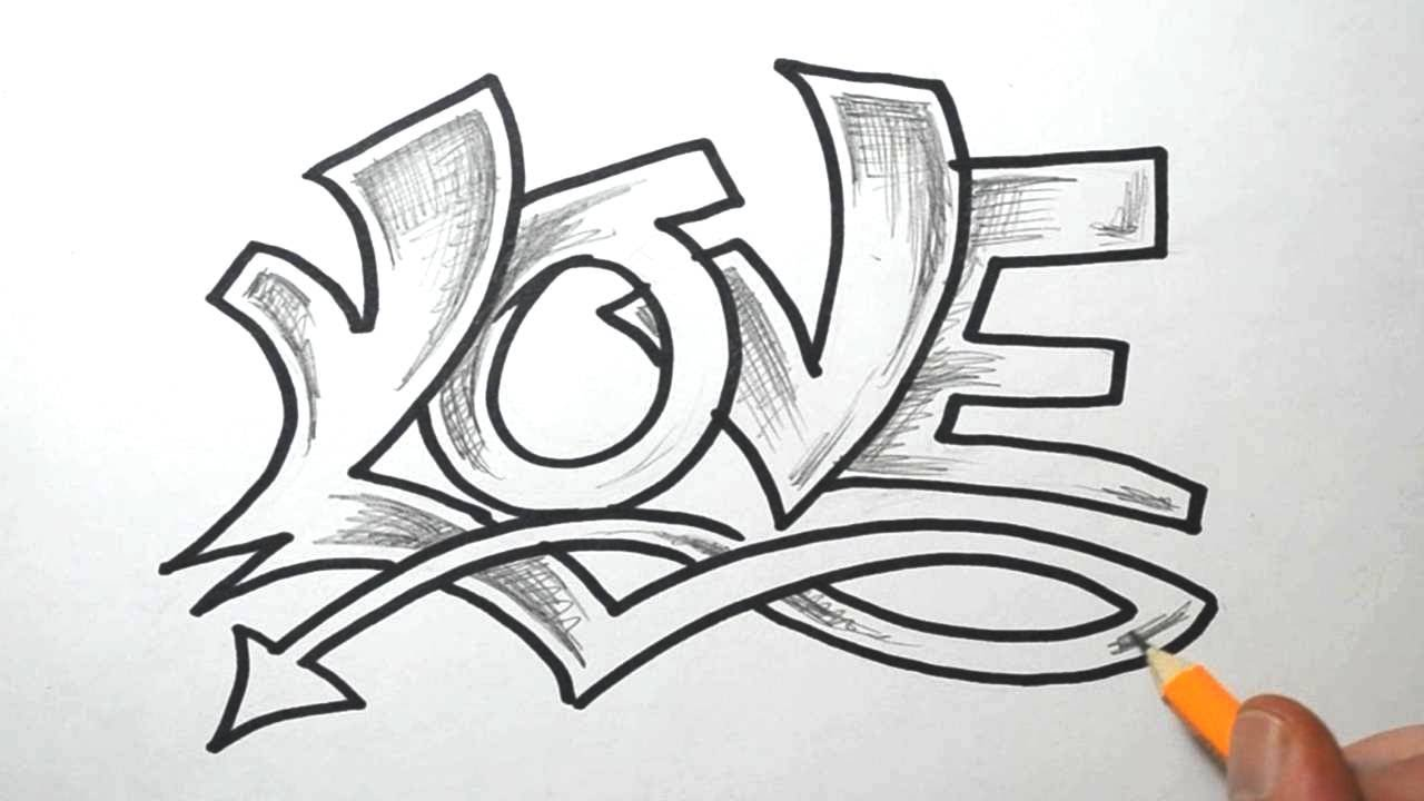 U Graffiti Letters LOVE in Graffiti Lettering