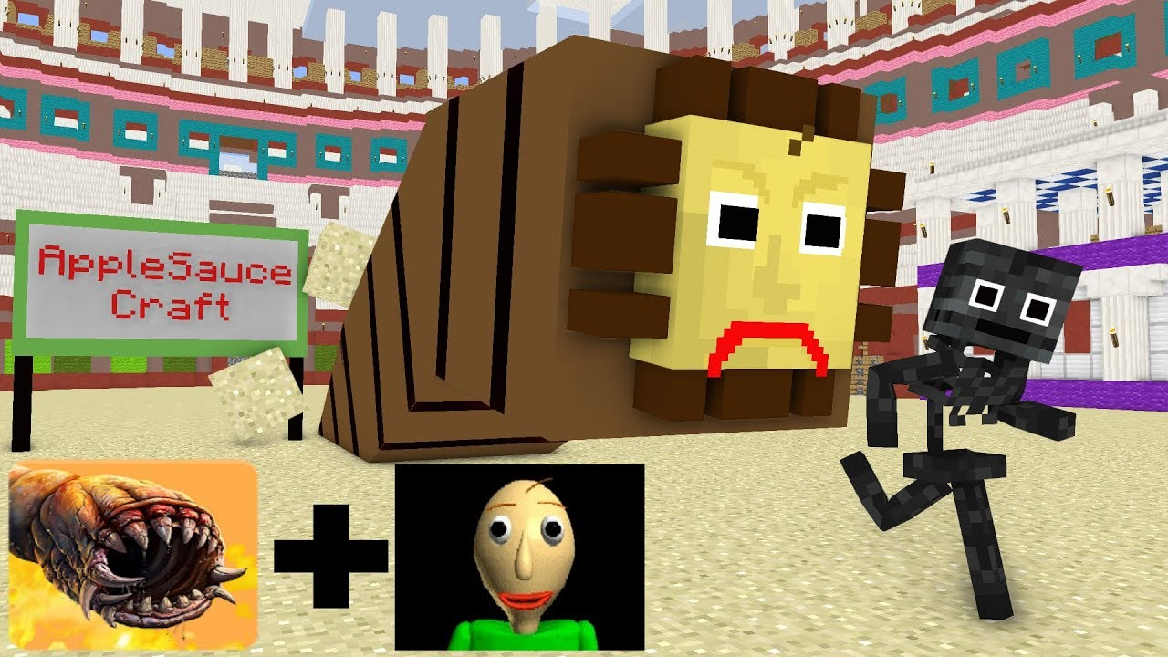 Monster School : Baldi`s Death Worm basic Learning and Education - Minecraft Animation