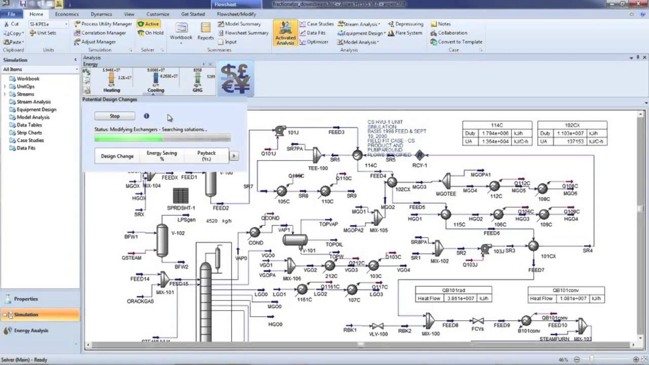 Activated Analysis in Aspen HYSYS V8 - YouTube