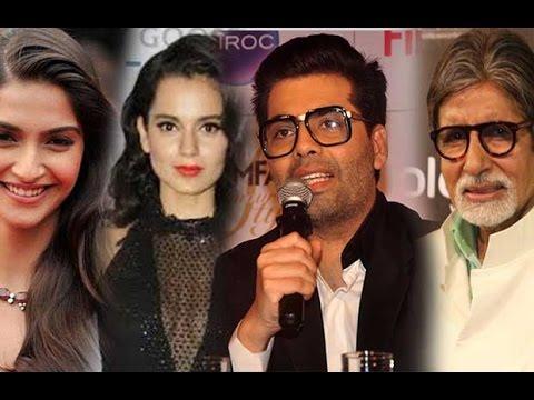 Karan Johar's Comment On Sonam Kapoor, Kangana Ranaut & Amitabh Bachchan