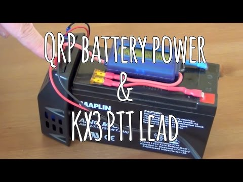 QRP battery power & KX3 PTT