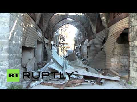 Syria: Businesses return to old Souk of Homs after ceasefire