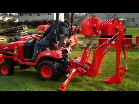Kubota BX25 Backhoe Removal