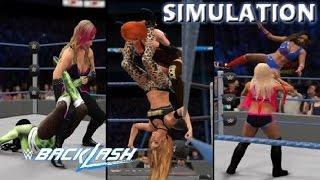 WWE 2K16 SIMULATION: Women's Six pack Challenge | Backlash 2016 Highlights
