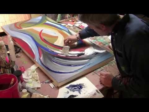 Abstract art acrylic speed painting