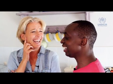 Emma Thompson & her son Tindy Agaba discuss family - 1/2