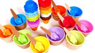 Learn Colors with Ice Cream Cones and Ice Cream Cups | Yippee Toys Video