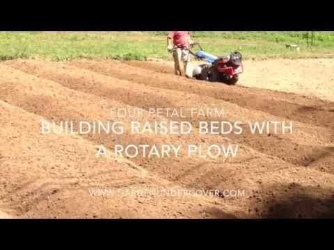 Building Raised Beds with a BCS Rotary Plow