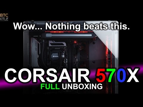 Corsair 570X Computer Case - Full Unboxing & Review!