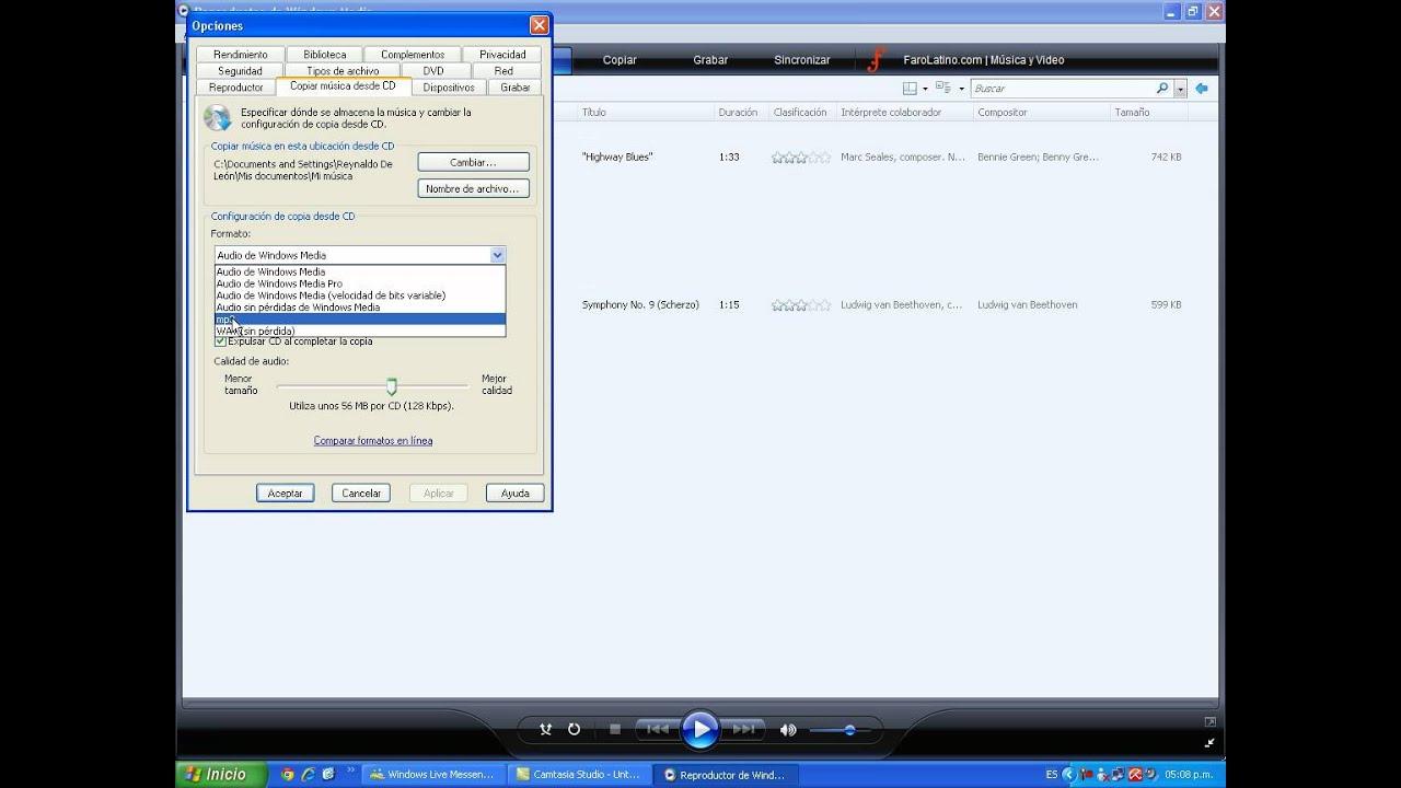 convertir mp3 a formato de audio: