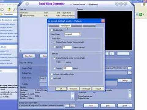Converter RMVB para AVI (DVD)