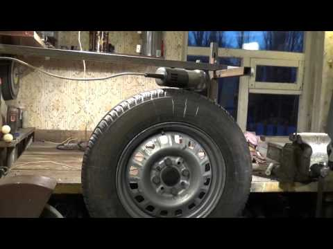 Балансировка колес в домашних условиях