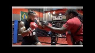American heavyweight James Wilson shows glimpses of Mike Tyson in training