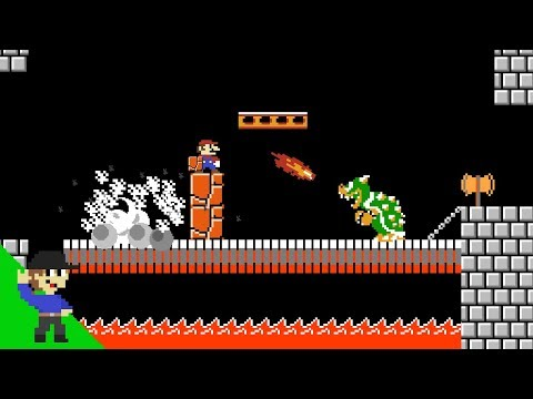 Mario vs Bowser but with Minecraft physics - Level UP Shorts
