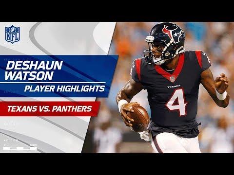 Every Deshaun Watson Play Against Carolina Texans Vs Panthers Preseason
