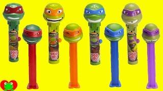 Teenage Mutant Ninja Turtles Lolli Pop Ups and Pez Candy Dispensers