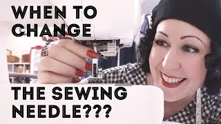 How often should I change my sewing machine needle?5 ways to know when its time to change the needle