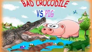 SCARY CROCODILE ATTACK THE ANIMALS AT THE FARM CROCODILE ATTACH CROCODILE VS DINOSAUR Part 2