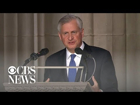 Presidential historian Jon Meacham delivers eulogy at George H.W. Bush funeral