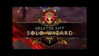 Diablo 3 | GR133 Solo Wizard | Rank 1 WORLD (No Conduit)