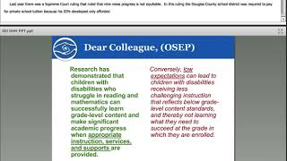"""What's So """"Special"""" about special instruction for students who are D/HH?"""
